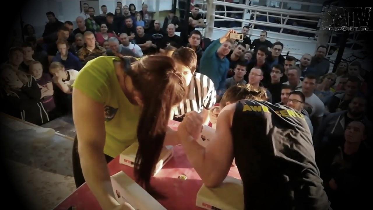 Slovakian Armwrestling League 2018 Rebeka Martinkovicova Vs Lucia