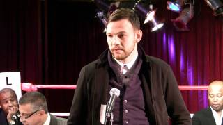 Andy Lee talks about his upcoming fight against Craig McEwan.