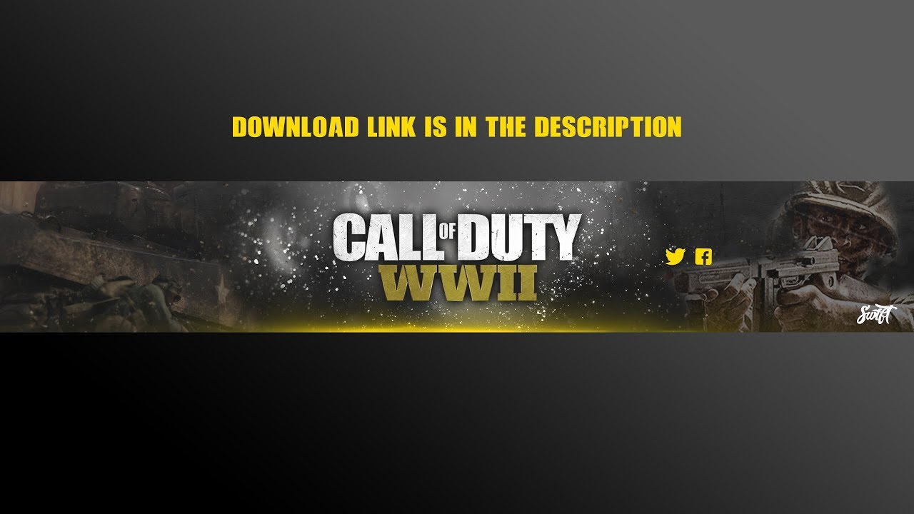 Call Of Duty Ww2 Youtube Banner Template Download Youtube