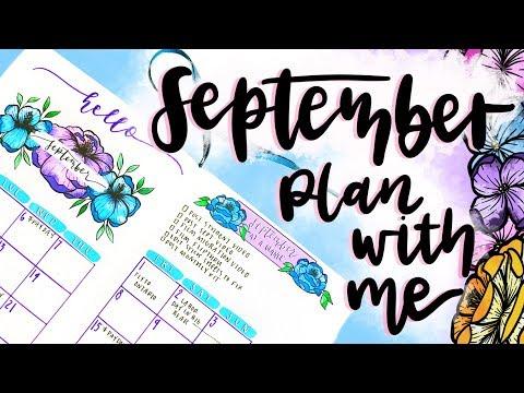 plan with me || september bullet journal setup