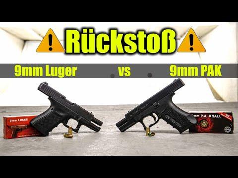 🤜Rückstoß - 9mm Luger vs. 9mm PAK