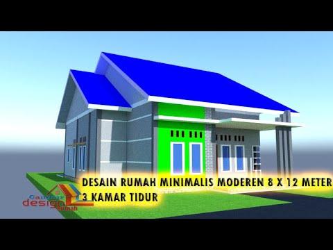 desain rumah minimalis ukuran 8x12 meter 3 kamar tidur