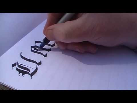 Calligraphy - Old English style gothic alphabet Pt 2 by Yirdy Machar