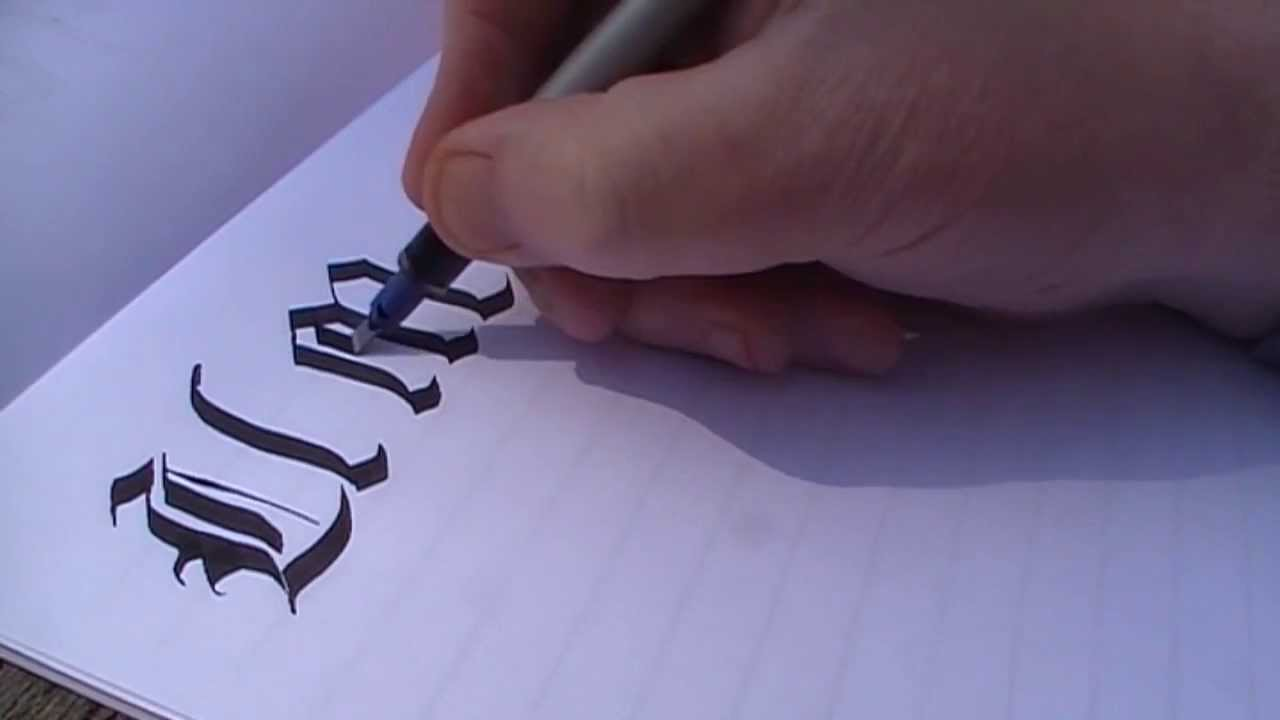 Calligraphy Old English Style Gothic Alphabet Pt 2 By