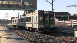 20160312 701系K618編成 常磐線 日立木駅