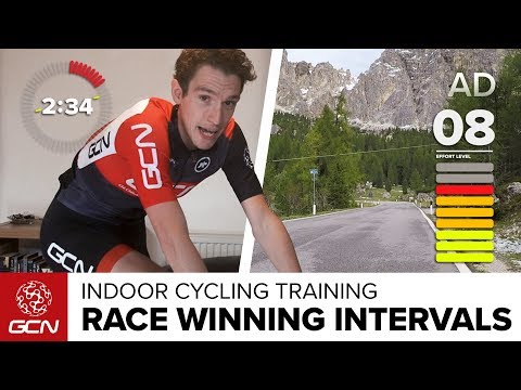 Race Winning Intervals | Indoor Cycling Session On The Passo Falzarego