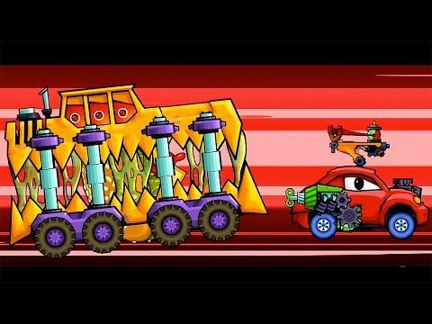 КРАСНАЯ МАШИНКА против ХИЩНЫХ МАШИН #2 мультик по игре Car Еats Car 2