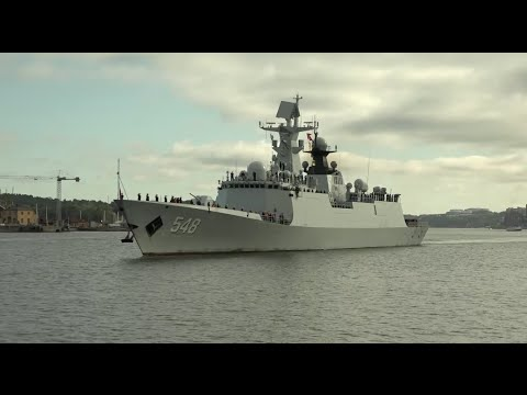 Chinese Naval Ships Pay First Visit to Sweden