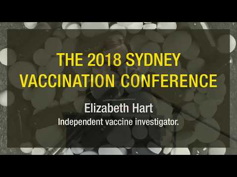 Elizabeth Hart speaks at the 2018 Sydney Vaccination Conference