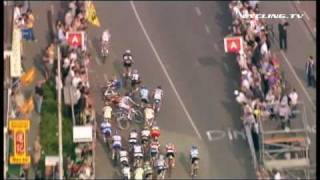 Scheldeprijs 2009 Sprint Crash