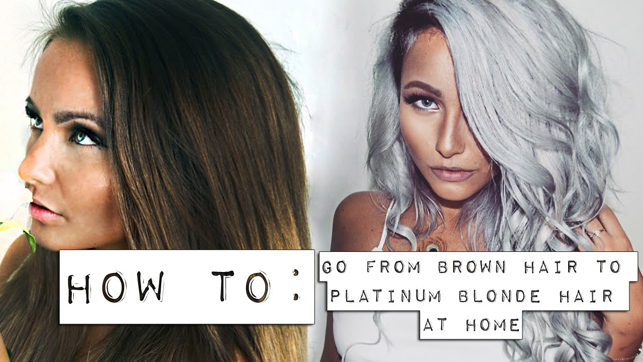 How To Go From Brown Hair To Platinum Blonde At Home Youtube