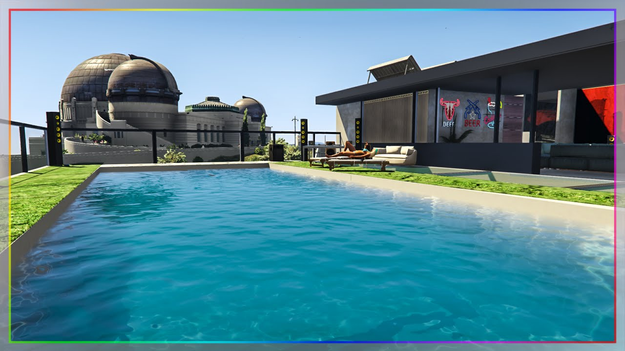 une maison de millionnaire sur gta 5 youtube. Black Bedroom Furniture Sets. Home Design Ideas