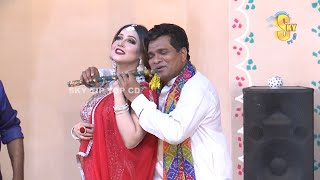 Naseem Vicky With Varda and Babbu Rana Stage Drama Ranjha Ranjha Kardi Full Comedy Clip 2019
