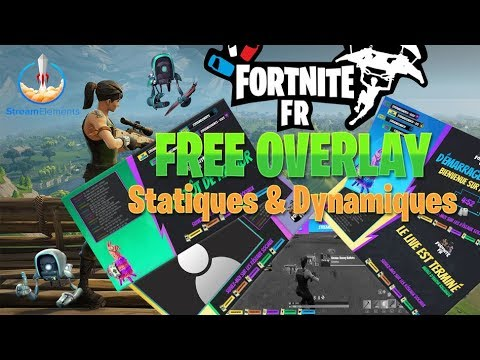 free overlay template fortnite by streamelements for. Black Bedroom Furniture Sets. Home Design Ideas