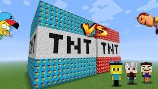 KRAL ŞAKİR VS HELLO NEIGHBOR TNT ŞANS BLOKLARI - Minecraft