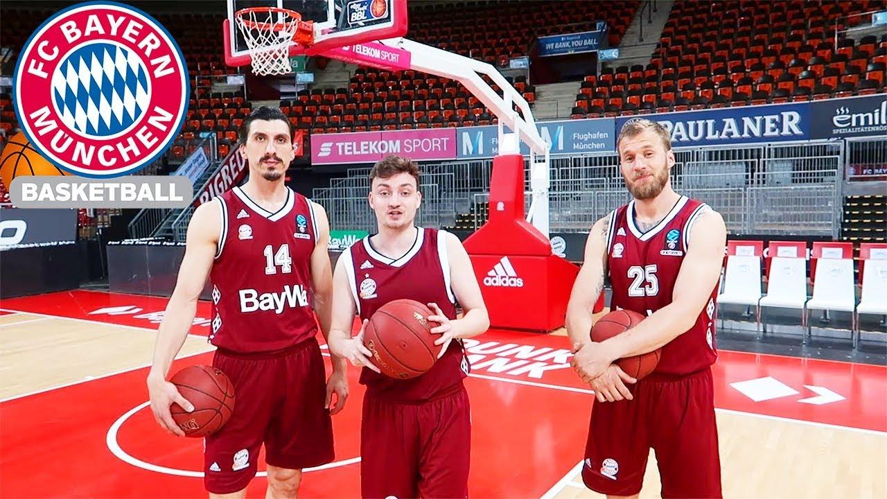 ANTON VS. FC BAYERN PROFIS   Basketball-Trickshot-Challenge