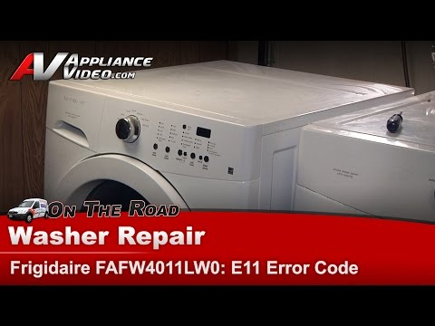 Frigidaire, Elextrolux  Washer - Not Draining & Has E11 code,functions buttons not working