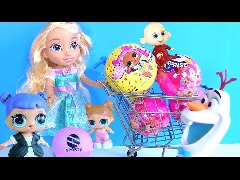 Куклы Лол Сюрприз Мультик! Сборник приключений Lol Surprise и Шопкинс  в сказке Холодное Сердце