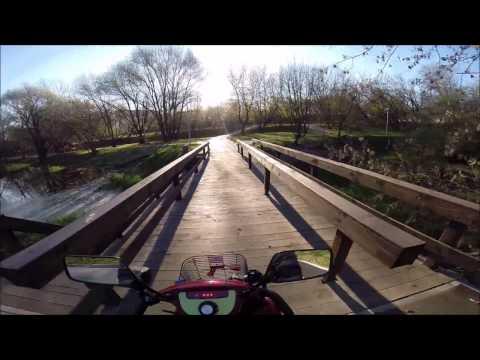 Осень, парк, река, платина, пруды и замёрзшие руки. Mobility scooter. Скутеры для инвалидов.