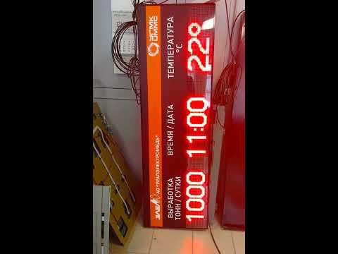видео обзор светодиодных табло ITLINE