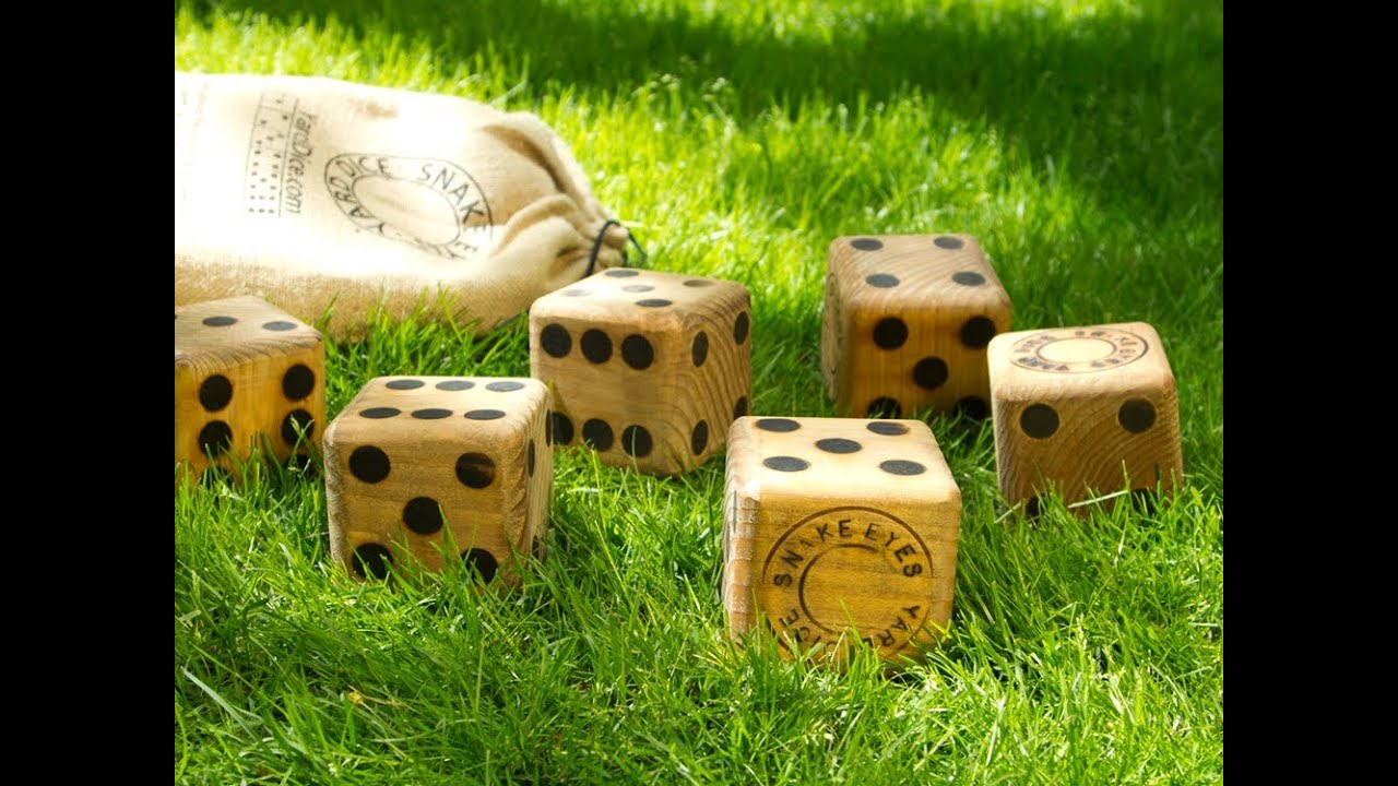 Yard Dice Wooden Dice Game