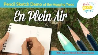 Learn to Draw en Plein Air using a Soft and Hard Pencil with Smile Create Repeat