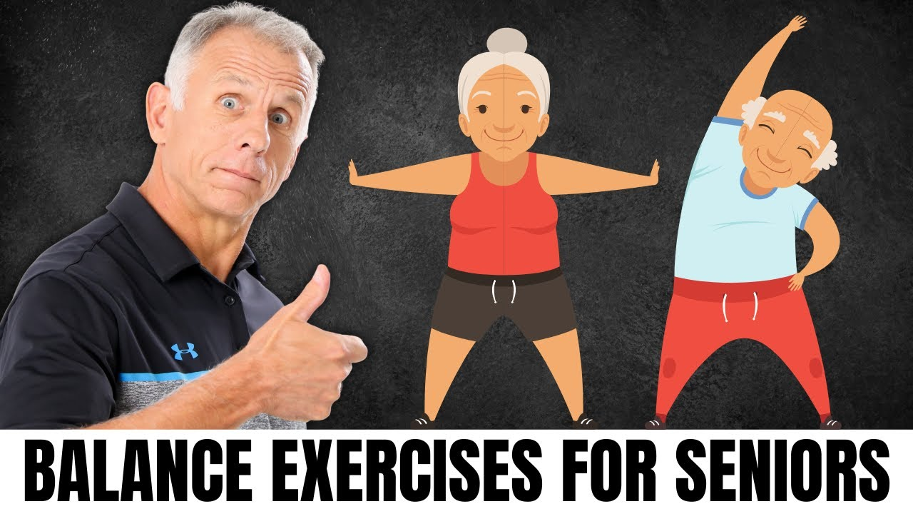 Top 10 Balance Exercises For Seniors At Home Stop Falls Youtube