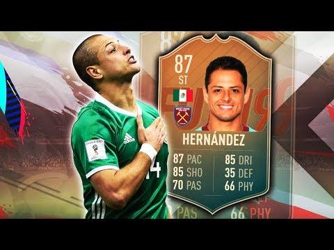 FLASHBACK HERNANDEZ CHICHARITO 87! BROKEN FINESSE SHOTS! FIFA 19 ULTIMATE TEAM