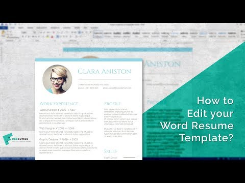 How To Edit Your MS Word Resume Template | Step By Step Tutorial