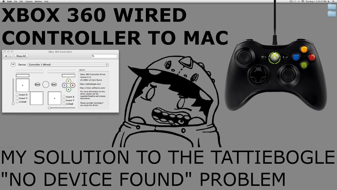 XBOX 360 Wired Controller To Mac Help - YouTube