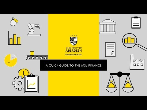 A Quick Guide To The MSc Finance | University Of Aberdeen