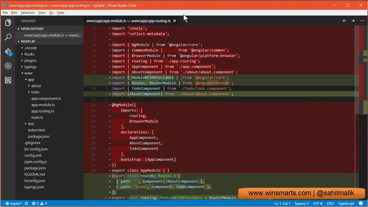 VSCode Diffing Files