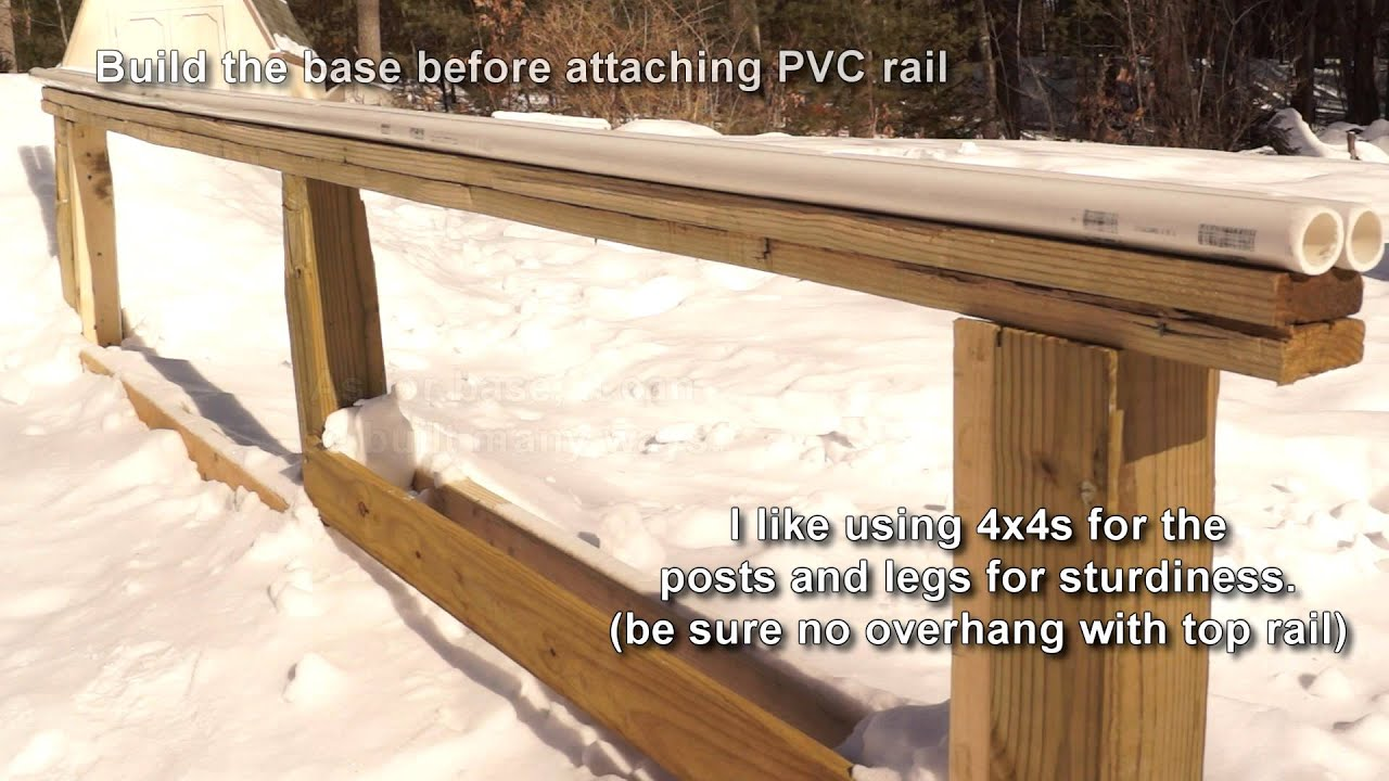 PVC Pipe Terrain Park Rail DIY