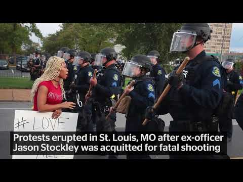 St Louis Police Taunt Race Rioters & Chant 'Whose Street? Our Street!'