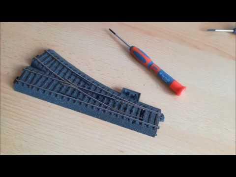 Märklin Weiche mit Antrieb (74491) und Decoder (74461) ausrüsten und programmieren.
