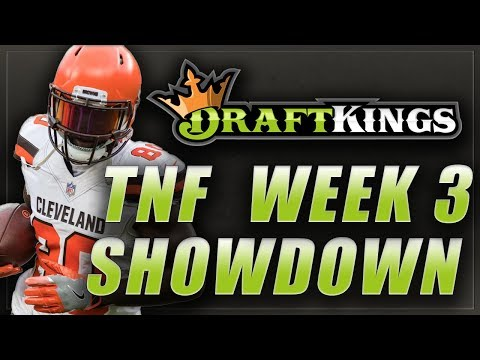 DRAFTKINGS NFL WEEK 3 SHOWDOWN LINEUP TIPS: Jets Browns