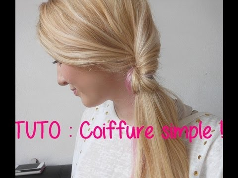 tuto coiffure simple rapide et efficace youtube. Black Bedroom Furniture Sets. Home Design Ideas