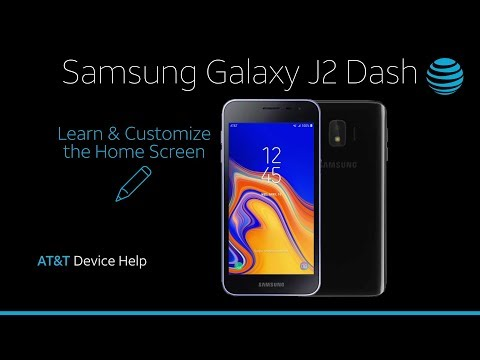Learn and Customize the Home Screen on your Samsung Galaxy J2 Dash | AT&T Wireless