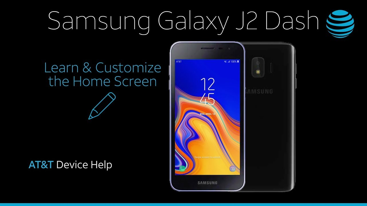 Learn And Customize The Home Screen On Your Samsung Galaxy J2 Dash At T Wireless Youtube