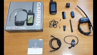 Garmin Alpha 200i tt15 Обзор комплектация навигатор с ошейником