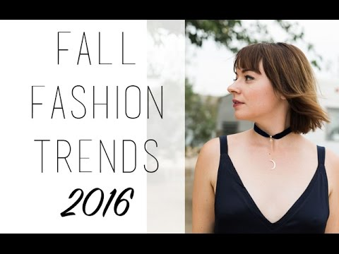 Fall Fashion Trends 2016 Video: Velvet, Chokers and Matte Lips
