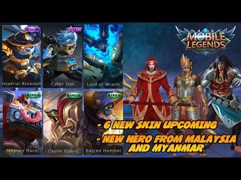 6 NEW SKIN, NEW HERO DARI MALAYSIA DAN MYANMAR    UPCOMING GUYS