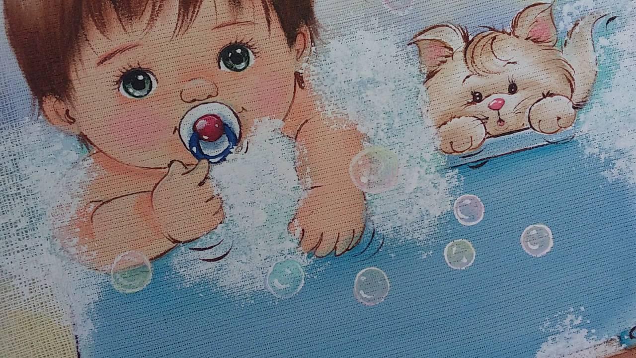 Como pintar bolhas de sab baby m rcia youtube for Pinturas para pintar