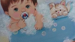 Como pintar bolhas de sabão – pinturas baby Márcia