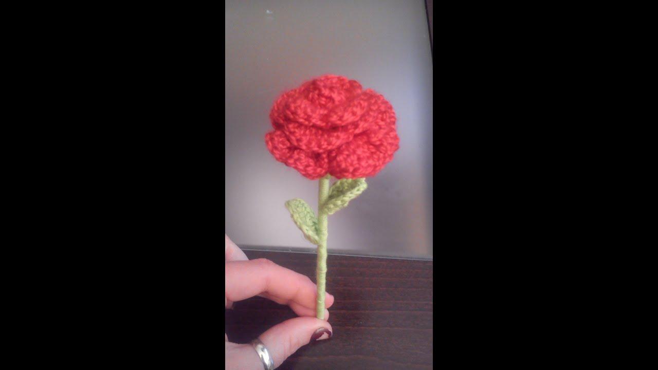Como hacer una mini rosa paso a paso a crochet o ganchillo for Como hacer una banqueta tapizada
