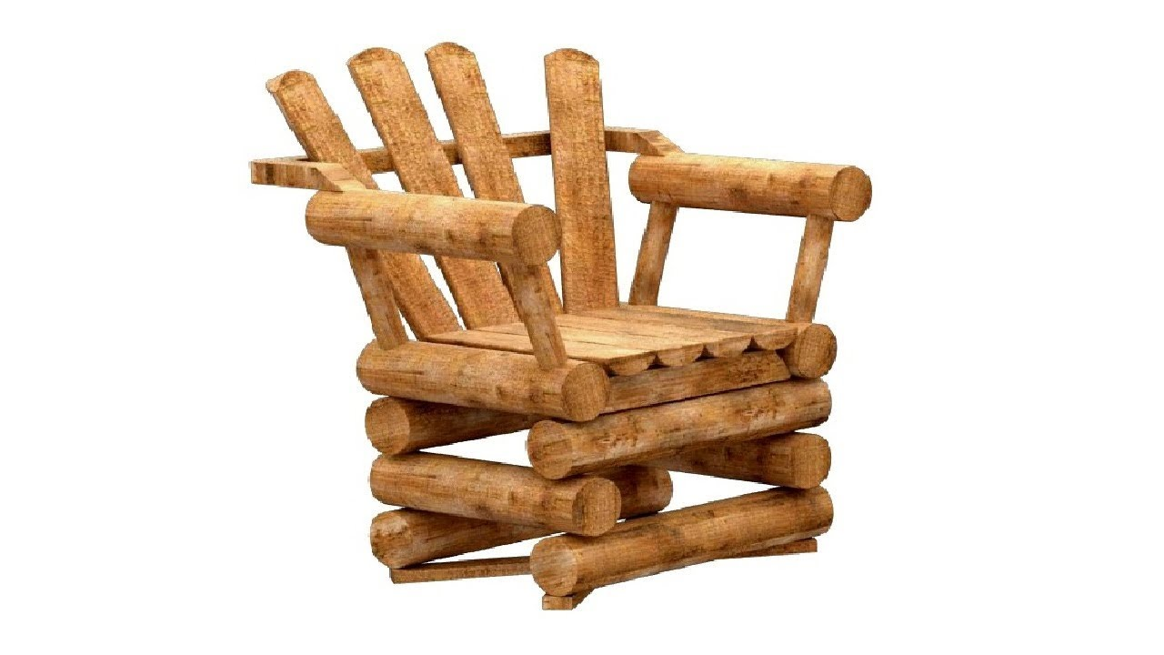 How to make rustic wooden furniture from wood logs : DIY ...