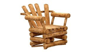 How To Make Rustic Wooden Furniture From Wood Logs : Diy