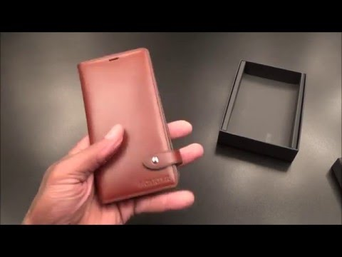 MOTIMO Vegetable Tanned Leather Case - For Most Phones