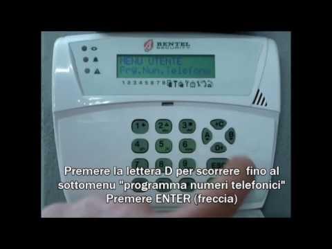 Modificare numeri telefonici tastiera lcd bentel kyo youtube for Absoluta 16 manuale installazione