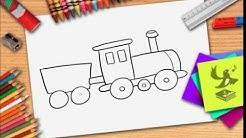 Wie zeichnet man eine Zug - Züge zeichnen lernen